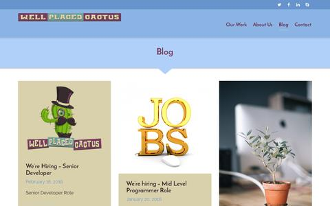 Screenshot of Blog wellplacedcactus.com - Blog | Well Placed Cactus - captured Feb. 18, 2016