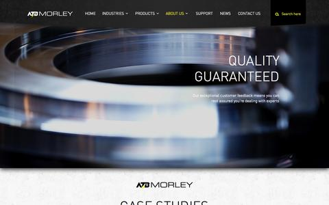 Screenshot of Case Studies Page atbmorley.com - Case studies -ATB Morley- Heavy duty electric motors - captured Oct. 8, 2014