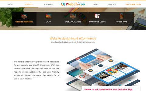 Screenshot of Services Page webchirpy.com - Webchirpy | Branding and UX UI Design studio - captured Feb. 5, 2018