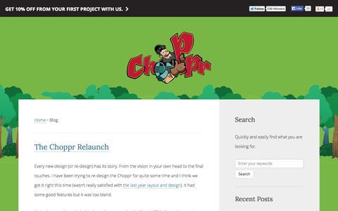 Screenshot of Blog thechoppr.com - Choppr Blog - You design, we will code - Choppr - captured Sept. 24, 2014