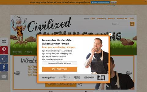 Screenshot of Home Page civilizedcavemancooking.com - Paleo Recipes - Civilized Caveman ® - captured Dec. 5, 2015