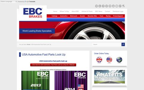 USA Automotive Fast Parts Look Up - EBC Brakes