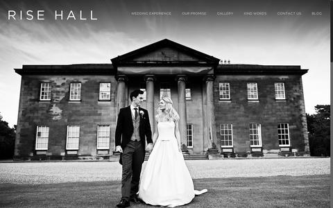 Screenshot of Home Page risehall.com - Rise Hall | Beautiful wedding venue in the East Riding of Yorkshire - captured Dec. 22, 2016