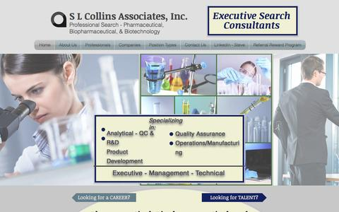 Screenshot of Home Page slcollins.com - S L Collins Associatess - captured June 18, 2015