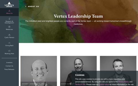 Screenshot of Team Page vrtx.com - Leadership | Vertex Pharmaceuticals - captured May 31, 2019