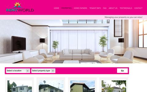 Screenshot of Products Page rentworld.co.nz - Rentworld - captured June 15, 2016