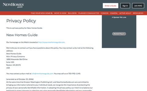Privacy Policy - New Homes Guide