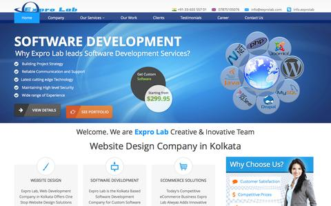 Screenshot of Home Page exprolab.com - Website Design Company in Kolkata – Expro Lab - captured Feb. 1, 2016