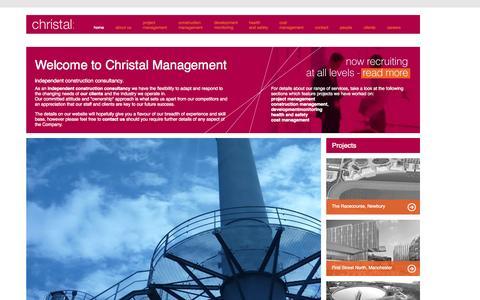 Screenshot of Home Page christalmanagement.co.uk - Christal | independent construction consultancy | construction management | christalmanagement.co.uk - captured Sept. 29, 2014