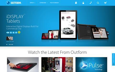 Screenshot of Home Page outform.com - OUTFORM | Interactive Digital Displays - captured Sept. 18, 2014