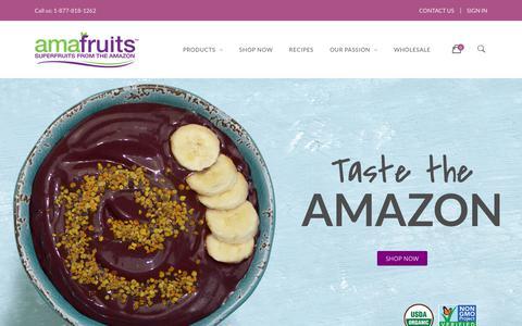 Screenshot of Home Page amafruits.com - Amafruits - captured July 29, 2018