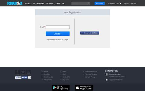 Screenshot of Signup Page reelbox.tv - Sign Up - Create Reelbox Account - captured Sept. 10, 2014
