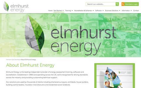 Screenshot of About Page elmhurstenergy.co.uk - About Elmhurst Energy - captured July 18, 2018