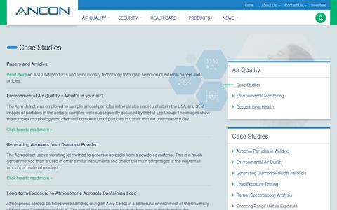 Screenshot of Case Studies Page ancontechnologies.com - Case Studies - Ancon Technologies - captured Oct. 3, 2018