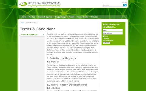 Screenshot of Terms Page futuretransportsystems.co.uk - Terms & Conditions - captured Oct. 6, 2014