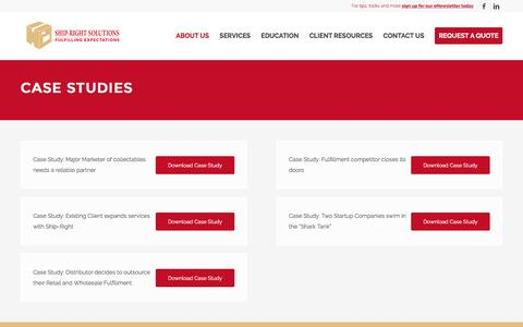 Screenshot of Case Studies Page shiprightsolutions.com - Case Studies - Ship-Right Solutions - captured Dec. 11, 2016