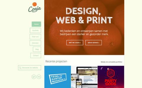 Screenshot of Home Page coaja.nl - Coaja – Design, Web & Print in Heemskerk - captured Oct. 3, 2014