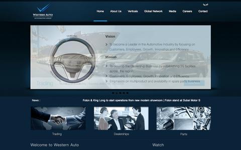 Screenshot of Home Page etawestern.com - Home | Western Auto - captured Oct. 6, 2014