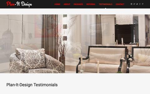 Screenshot of Testimonials Page plan-itdesign.com - Testimonials - Plan-It Design - Plan-It Design - captured May 17, 2017