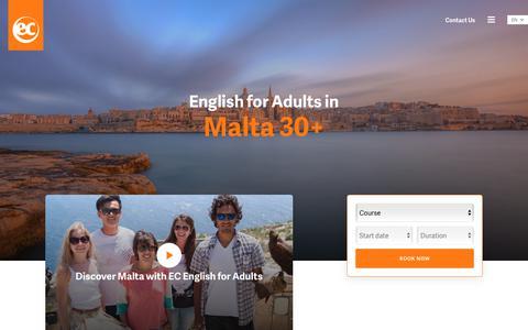 Adult English Courses - EC Malta 30+ - EC English Language Schools