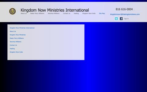 Screenshot of Site Map Page thekingdomishere.com - Site Map - captured Oct. 6, 2014
