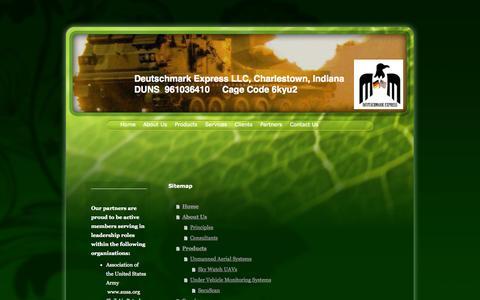 Screenshot of Site Map Page dmexp.biz - Home - Deutschmark Express LLC - captured Oct. 5, 2014