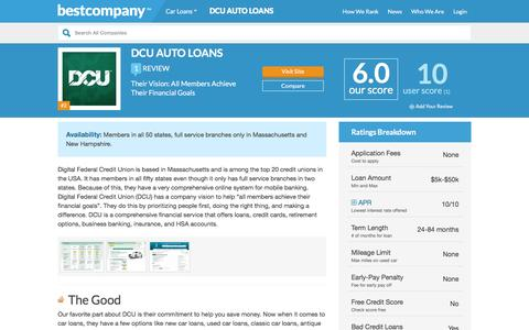 DCU Auto Loans Reviews | Real Customer Reviews