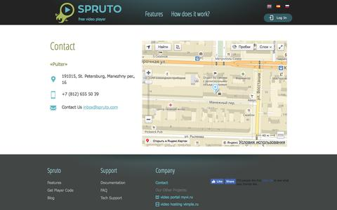 Screenshot of Contact Page spruto.com - Contact - captured June 28, 2017