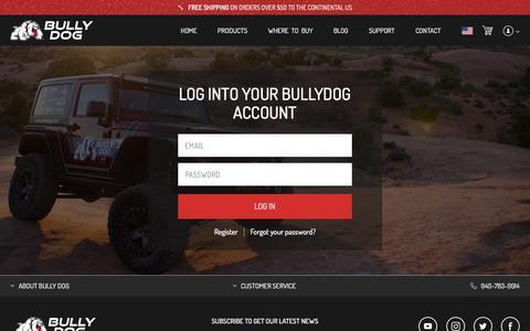 Screenshot of Login Page bullydog.com - Bully Dog - captured Oct. 21, 2016