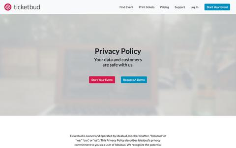 Ticketbud · Privacy Policy