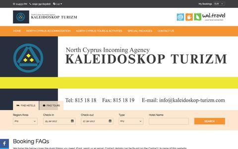 Screenshot of FAQ Page north-cyprus.travel - North Cyprus Travel FAQ Guide - captured Jan. 22, 2017