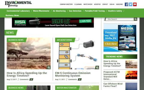 Screenshot of Press Page envirotech-online.com - News -  Envirotech Online - captured Aug. 14, 2017