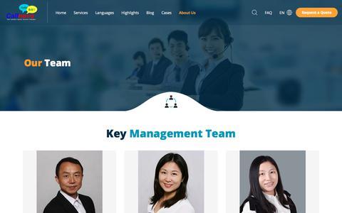 Screenshot of Team Page callnovo.com - Our Team - Callnovo - captured Nov. 24, 2019