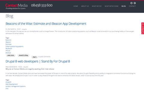 Screenshot of Blog contact-media.co.uk - Blog | Contact Media UK - captured Oct. 3, 2014