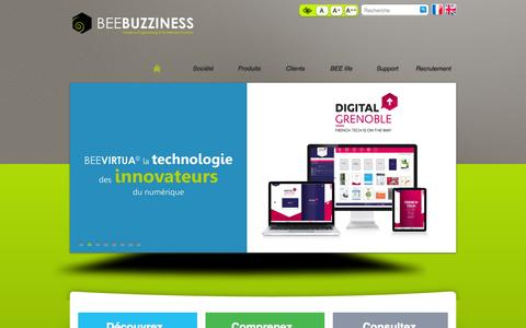 Screenshot of Home Page beebuzziness.com - HOME-page d'accueil - BEEBUZZINESS - captured Sept. 24, 2014