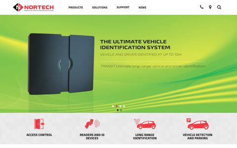 Screenshot of Home Page nortechcontrol.com - Access Control Systems, Manufacturer & Supplier UK | Nortech | Nortech Control Systems Ltd - captured Feb. 25, 2016