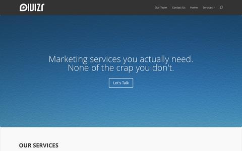 Screenshot of Home Page divizr.com - Divizr - captured Sept. 30, 2014