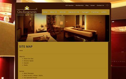 Screenshot of Site Map Page oraspa.in - Sitemap | Ora Regenesis Spa - captured June 16, 2019