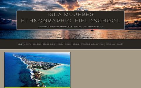 Screenshot of Home Page anthrofieldschool.com - Isla Mujeres Ethnographic Fieldschool - captured Feb. 11, 2016