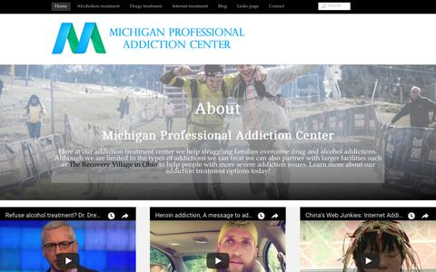Screenshot of Home Page mproa.org - MPROA – Highly Successful and Professional Addiction Center - captured Oct. 18, 2018