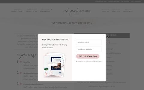 Screenshot of Signup Page redpeachdesigns.com - Informational Website Design - Red Peach Designs Boutique Web Design - captured Dec. 10, 2018