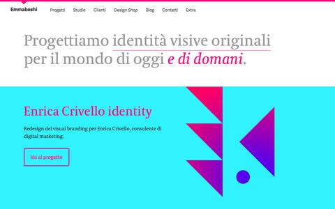 Screenshot of Home Page emmaboshi.net - Emmaboshi — Bologna - captured Aug. 1, 2017