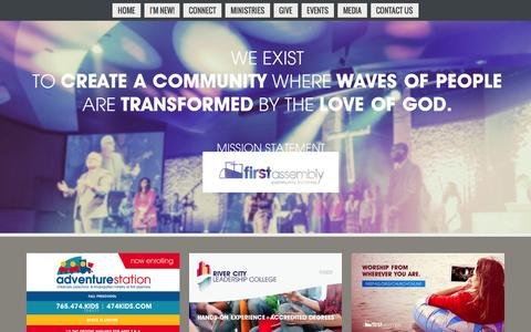 Screenshot of Home Page firstag.org - First Assembly Community Ministries - captured Feb. 10, 2016