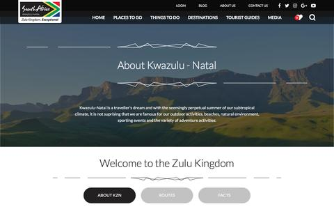 Screenshot of About Page zulu.org.za - About - Tourism KZN - captured Dec. 4, 2016