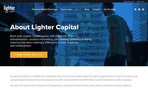 Screenshot of About Page lightercapital.com - About - Lighter Capital - captured Nov. 4, 2018