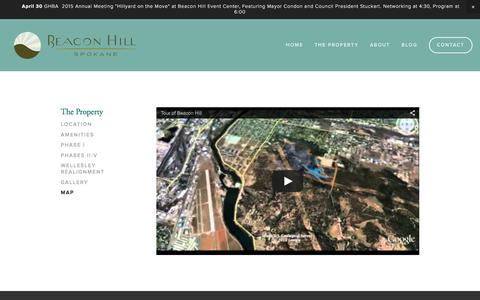 Screenshot of Maps & Directions Page beaconhillspokane.com - Map Ń Beacon Hill Spokane - captured Dec. 30, 2015