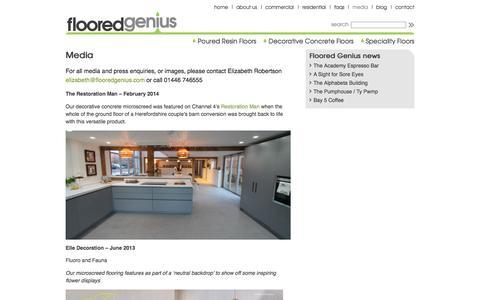Screenshot of Press Page flooredgenius.com - Media | Floored Genius - captured Oct. 14, 2017