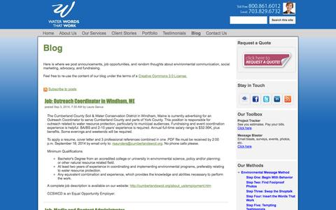 Screenshot of Blog waterwordsthatwork.com - Blog - Water Words That Work - captured Oct. 7, 2014