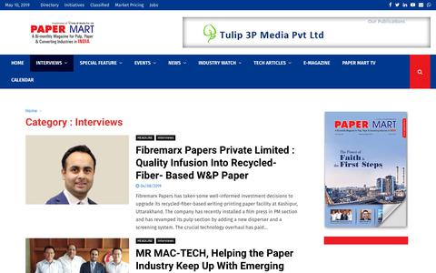 Screenshot of Team Page papermart.in - Interviews Archives - Paper - captured May 10, 2019