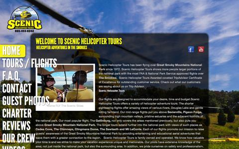 Screenshot of Home Page scenichelicoptertours.com - Fly Scenic Home Page - Scenic Helicopter tour, Helicopter adventure - captured June 18, 2015